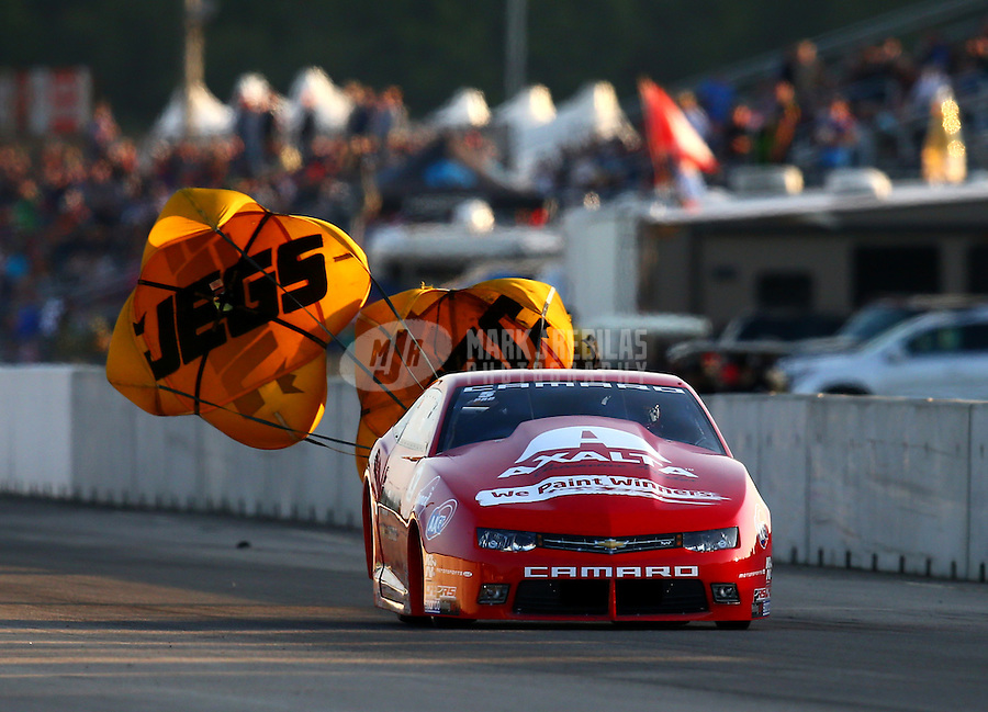 Jun 3, 2016; Epping , NH, USA; NHRA pro stock driver Drew Skillman during qualifying for the New England Nationals at New England Dragway. Mandatory Credit: Mark J. Rebilas-USA TODAY Sports