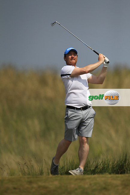 Eoin Arthurs (Forrest Little) on the 5th tee during Round 1 of the East of Ireland Amateur Open Championship sponsored by City North Hotel at Co. Louth Golf club in Baltray on Saturday 4th June 2016.<br /> Photo by: Golffile | Thos Caffrey