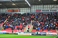 Lincoln City fans before kick off<br /> <br /> Photographer Andrew Vaughan/CameraSport<br /> <br /> The Carabao Cup First Round - Rotherham United v Lincoln City - Tuesday 8th August 2017 - New York Stadium - Rotherham<br />  <br /> World Copyright &copy; 2017 CameraSport. All rights reserved. 43 Linden Ave. Countesthorpe. Leicester. England. LE8 5PG - Tel: +44 (0) 116 277 4147 - admin@camerasport.com - www.camerasport.com