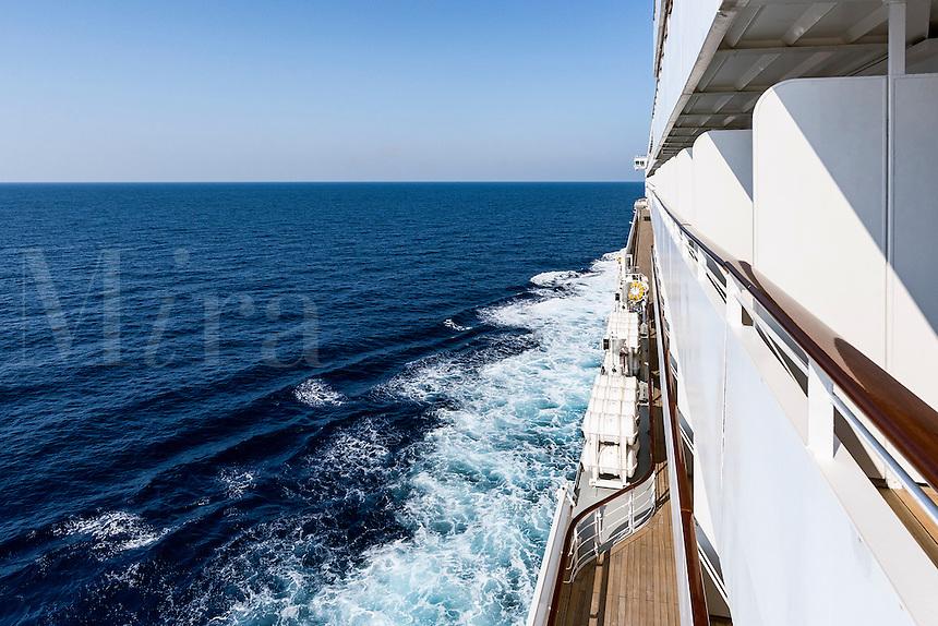 Cruise ship at sea, Italy