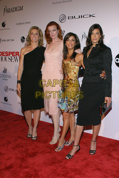 FELICITY HUFFMAN, MARCIA CROSS, EVA LONGORIA & TERI HATCHER.Desparate Housewives - New ABC Series Viewing Party at Barney's Beverly Hills Store. .October 3rd, 2004.full length, one shoulder, black suit jackets, pink dress, silk, satin dress.www.capitalpictures.com.sales@capitalpictures.com.© Jacqui Wong/AdMedia/Capital Pictures.