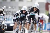 Michal Kwiatkowski (POL/Etixx-Quickstep) leading his teammates<br /> <br /> Elite Men&rsquo;s Team Time Trial<br /> UCI Road World Championships Richmond 2015 / USA