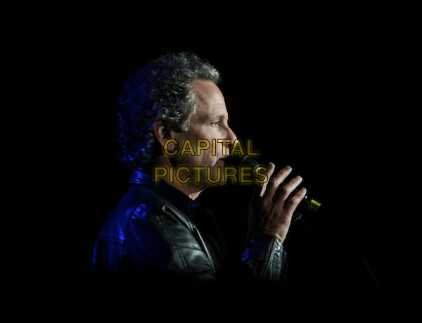"LINDSEY BUCKINGHAM.performs live at The Grove of Anaheim in support of his new album ""Under the Skin""  Anaheim, California, USA, November 03 rd 2006..half length concert music gig live on stage.Ref: DVS.www.capitalpictures.com.sales@capitalpictures.com.©Debbie VanStory/Capital Pictures"