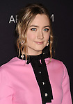LOS ANGELES, CA - NOVEMBER 07: Actress Saoirse Ronan attends LACMA 2015 Art+Film Gala Honoring James Turrell and Alejandro G Iñárritu, Presented by Gucci at LACMA on November 7, 2015 in Los Angeles, California.