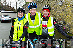 Patricia O'Neill, Tom and Eileen O'Shea from Tralee, after completing the Jimmy Duffy Memorial Cycle on Saturday.