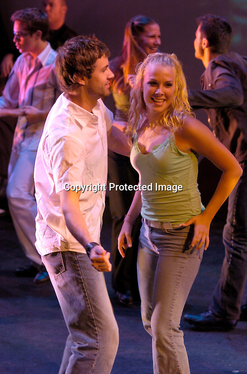 "John Driscoll and cast member dancing..at a performance of "" Michael Minery's Tapaholics"", a part of the International Dance Fesival NYC on August 7, 2004 ..at the Duke Theatre. ..Photo by Robin Platzer, Twin Images"