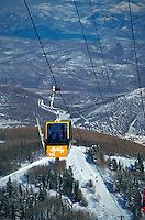 The Park City Ski Area gondola. Utah.
