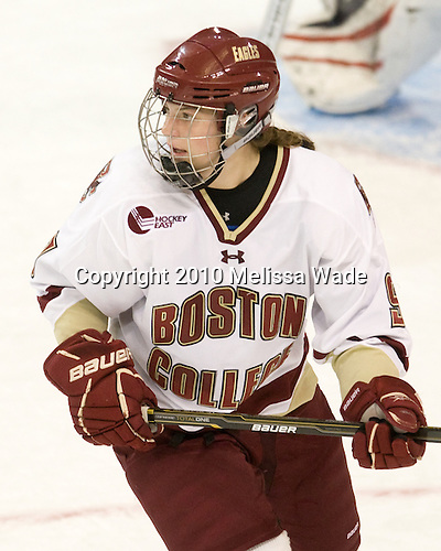 Taylor Wasylk (BC - 9) - The Boston College Eagles defeated the visiting University of Connecticut Huskies 3-0 on Sunday, October 31, 2010, at Conte Forum in Chestnut Hill, Massachusetts.