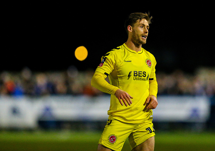 Fleetwood Town's Conor McAleny<br /> <br /> Photographer Alex Dodd/CameraSport<br /> <br /> The Emirates FA Cup Second Round - Guiseley v Fleetwood Town - Monday 3rd December 2018 - Nethermoor Park - Guiseley<br />  <br /> World Copyright © 2018 CameraSport. All rights reserved. 43 Linden Ave. Countesthorpe. Leicester. England. LE8 5PG - Tel: +44 (0) 116 277 4147 - admin@camerasport.com - www.camerasport.com