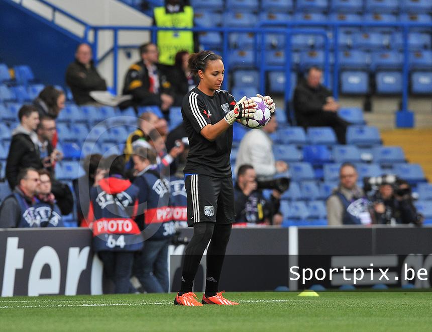 Wolfsburg - Olympique Lyonnais : Sarah Bouhaddi<br /> foto David Catry / Nikonpro.be