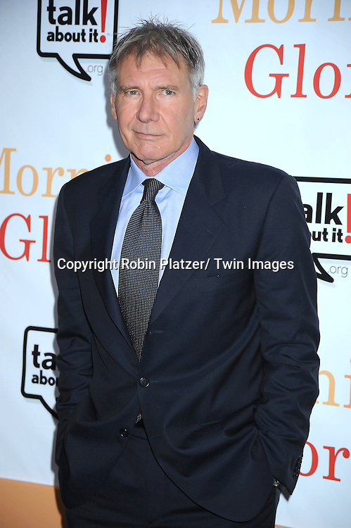 """Harrison Ford attending the World Premiere of """" Morning Glory"""" starring Harrison Ford, Diane Keaton and Rachel McAdams on November 7, 2010 at The Ziegfeld Theatre in New York City."""