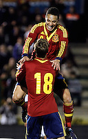 Spain's Canales (b) and Rodrigo celebrate goal during an International sub21 match. March 21, 2013.(ALTERPHOTOS/Alconada) /NortePhoto