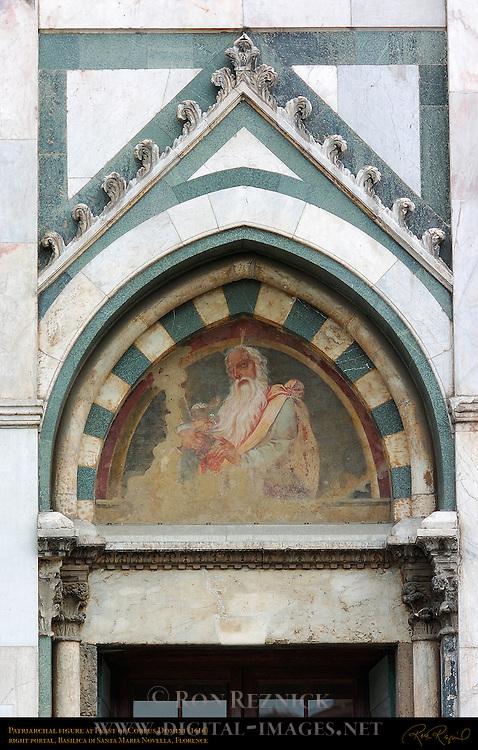 Patriarchal Figure at Feast of Corpus Domini Right Portal Fresco 1616 Santa Maria Novella Florence