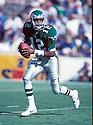 Philadelphia Eagles, Randall Cunningham(12) in action against the New York Giants on October 8, 1989 at the Veterans Stadium in Philadelphia, Pennsylvania .  The Eagles beat the Giants 21-19.