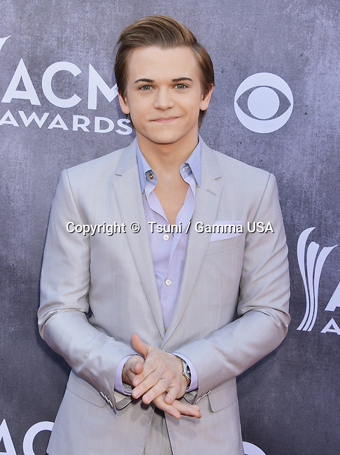 Hunter Hayes 106 at the  ACM Awards 2014 at the MGM Grand in Las Vegas.