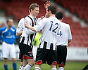 :: PAT CLARKE CELEBRATES AFTER HE SCORES DUNFERMLINE'S SIXTH ::
