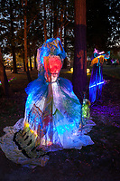 Lit Dress Art Installation, Arts A Glow Lantern Festival, Dottie Harper Park, Burien, Washington State, WA, America, USA.