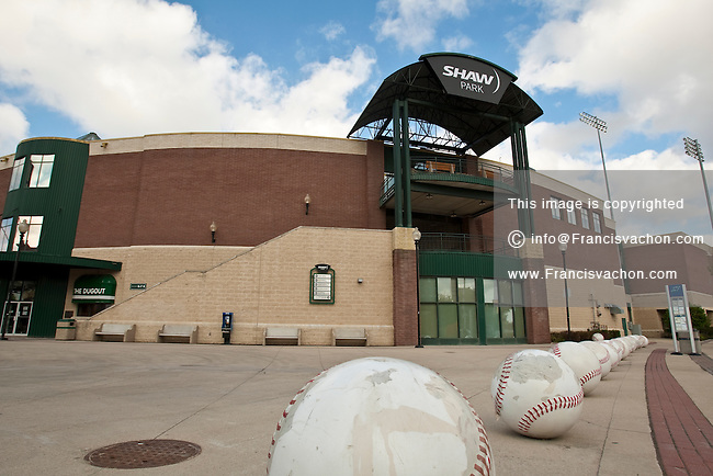 The Shaw Park stadium is pictured in Winnipeg Sunday May 22, 2011. Home to the Winnipeg Goldeyes baseball team of the American Association, Shaw Park, formerly Canwest Park, is a baseball stadium in Winnipeg, Manitoba.