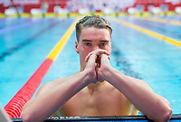 Picture by Allan McKenzie/SWpix.com - 13/12/2017 - Swimming - Swim England Winter Championships - Ponds Forge International Sport Centre - Sheffield, England - James Wilby races to gold in the mens open 200m breaststroke final.