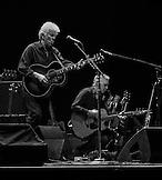 Graham Nash with Shane Fontayne.  Crosby, Stills & Nash at Max-Schmeling-Halle, Berlin, Germany
