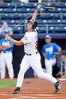 Alex Dickerson #25 of Team USA follows through on his swing against Team Korea at Durham Bulls Athletic Park July 18, 2010, in Durham, North Carolina.  Photo by Brian Westerholt / Four Seam Images