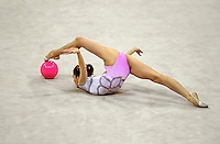 Oct 01, 2000; SYDNEY, AUSTRALIA:<br /> Elena Vitrichenko of Ukraine performs with ball during rhythmic gymnastics final at 2000 Summer Olympics. Elena took 4th all around.