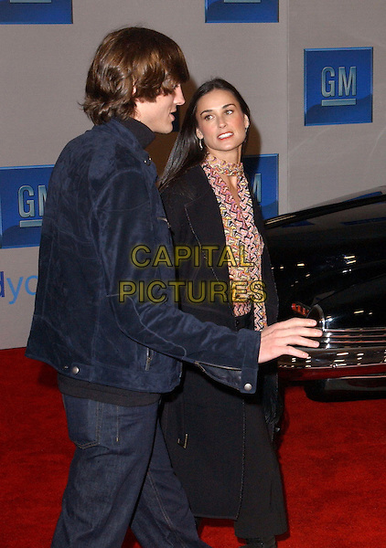 "ASHTON KUTCHER & DEMI MOORE.3rd Annual GM ""Ten"" fashion show and charity event to celebrate award season and car culture held at Sunset and Vine in the heart of Hollywood .24 February 2004                                                                  *UK Sales Only*                                                             .www.capitalpictures.com.sales@capitalpictures.com.©Capital Pictures."