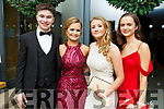 Dermot O'Hara, Ciara Boyd, Aoife O'Donoghue and Ria Walsh attending the Gaelcholaiste Chiarrai Debs in the Ballyroe Heights Hotel on Saturday night.