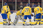 Johan Gustafsson (Sweden - 30) - Sweden's Under-20 team played its last game on this Massachusetts tour versus the University of Massachusetts-Amherst Minutemen at the Mullins Center in Amherst, Massachusetts.