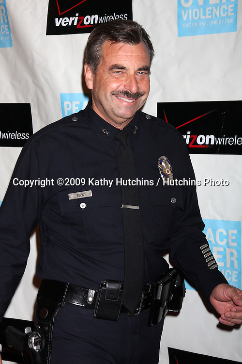 LAPD Chief-Elect Charlie Beck.arriving at the Peace over Violence 38th Annual Humanitarian Awards.Beverly Hills Hotel.Beverly Hills,  CA.November 6, 2009.©2009 Kathy Hutchins / Hutchins Photo.
