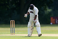 Frustration for A Zaidi of Wanstead after he is dismissed during Wanstead and Snaresbrook CC vs Ilford CC, Shepherd Neame Essex League Cricket at Overton Drive on 17th June 2017