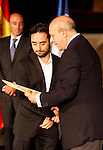 Education and Culture Minister of Spain gives the National Cinema Award to director Juan Antonio Bayona during the 61 San Sebastian Film Festival, in San Sebastian, Spain. September 21, 2013. (ALTERPHOTOS/Victor Blanco)