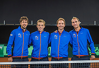 The Hague, The Netherlands, September 13, 2017,  Sportcampus , Davis Cup Netherlands - Chech Republic,  Dutch team, Ltr: Robin Haase , Tallon Griekspoor, Matwe Middelkoop, and Thiemo de Bakker <br /> Photo: Tennisimages/Henk Koster