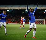 06.02.2019: Aberdeen v Rangers: Jermain Defoe celebrates his goal