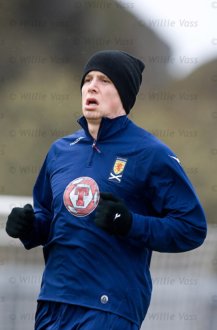 Christophe Berra training with Scotland