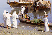 Kuwait September 1966.  Afternoon Scene on the Sief Waterfront.