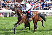 24th August 2018, York Races, Yorkshire, England;  Emaraaty Ana with Frankie Dettori up wins the Gimcrack Stakes. York racecourse.