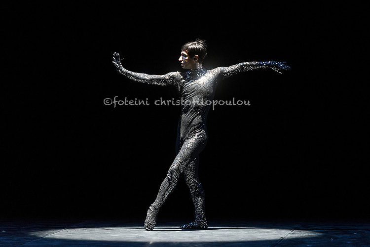 "London, UK. 22.11.2017. 'Men in Motion' Ivan Putrov's celebration of the male dancer returns to the London Coliseum, 22-23 Nov 2017. Photo shows: Daniel Proietto, in ""Sinnerman"".  Photo - © Foteini Christofilopoulou."
