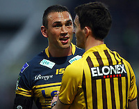 PICTURE BY VAUGHN RIDLEY/SWPIX.COM - Rugby League - Super League - Leeds Rhinos v Wigan Warriors - Headingley, Leeds, England - 01/06/12 - Leeds Kevin Sinfield.