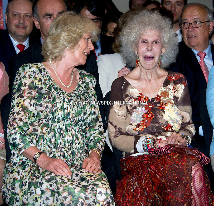 "PRINCE CHARLES and CAMILLA, DUCHESS OF CORNWALL.Visit Sivilla on the final day of their official tour of Spain..The Prince and Duchess made a visit to The President of the Andalucian Regional Government, took a walk through the sunny streets of Savilla whilst stopping off at the Cathedral and the Real Alcazar. Camilla also visited the Flamenco Museum, where see toured the building with Cristina Hoyos and watched a Flamenco demonstration in the company of the Duchess of Alba., Savilla_01/04/2011..Mandatory Credit Photo: ©Dias/NEWSPIX INTERNATIONAL..**ALL FEES PAYABLE TO: ""NEWSPIX INTERNATIONAL""**..IMMEDIATE CONFIRMATION OF USAGE REQUIRED:.Newspix International, 31 Chinnery Hill, Bishop's Stortford, ENGLAND CM23 3PS.Tel:+441279 324672  ; Fax: +441279656877.Mobile:  07775681153.e-mail: info@newspixinternational.co.uk"