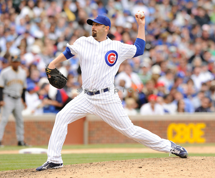 JOHN GRABOW, of the Chicago Cubs in action during the Cubs game against the Pittsburgh Pirates  at Wrigley Field in Chicago, IL  on May 15, 2010...The Pittsburgh Pirates  win 4-3.