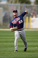 March 18, 2010:  Outfielder Steven Liddle (23) of the Minnesota Twins organization during Spring Training at the Ft. Myers Training Complex in Ft. Myers, FL.  Photo By Mike Janes/Four Seam Images