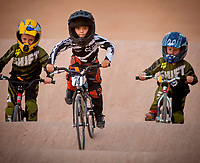 Issac Waddington, 5, (#74),  leads other riders while working on his skills at the Chandler BMX track.  Riders of all ages race and practice at Chandler  BMX at Frye and McQueen in Chandler.