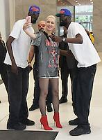 NEW YORK, NY-July 20: Gwen Stefani at Howard Stern SiriusXM  in New York. NY July 20, 2016. Credit:RW/MediaPunch