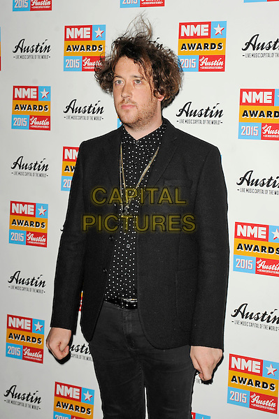 LONDON, ENGLAND - FEBRUARY 18: Matthew Murphy attending the NME Awards at Brixton Academy on February 18 2015 in London, England.<br /> CAP/MAR<br /> &copy; Martin Harris/Capital Pictures