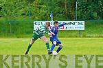 Killarney Athletic's Chris O'Mara and Killarney Celtic's Sean O'Sullivan.