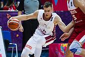 7th September 2017, Fenerbahce Arena, Istanbul, Turkey; FIBA Eurobasket Group D; Latvia versus Turkey; Power Forward Kristaps Porzingis #6 of Latvia in action