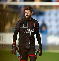 Lincoln City's Josh Vickers during the pre-match warm-up<br /> <br /> Photographer Andrew Vaughan/CameraSport<br /> <br /> The EFL Sky Bet League One - Shrewsbury Town v Lincoln City - Saturday 11th January 2020 - New Meadow - Shrewsbury<br /> <br /> World Copyright © 2020 CameraSport. All rights reserved. 43 Linden Ave. Countesthorpe. Leicester. England. LE8 5PG - Tel: +44 (0) 116 277 4147 - admin@camerasport.com - www.camerasport.com