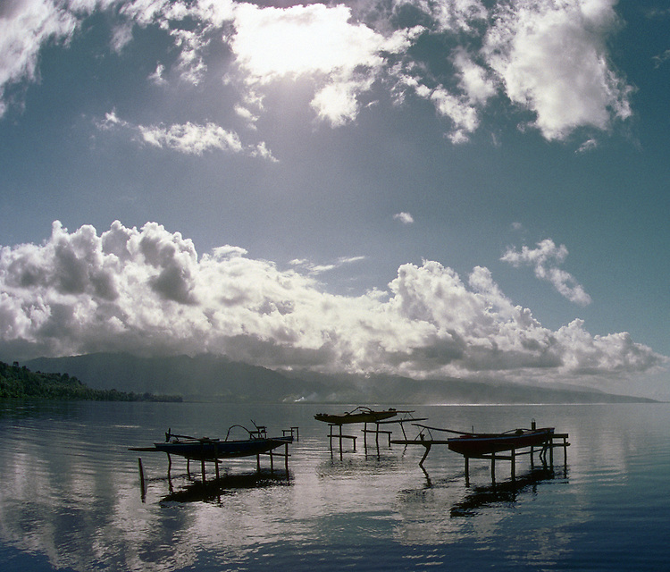 Canoes in Tahiti