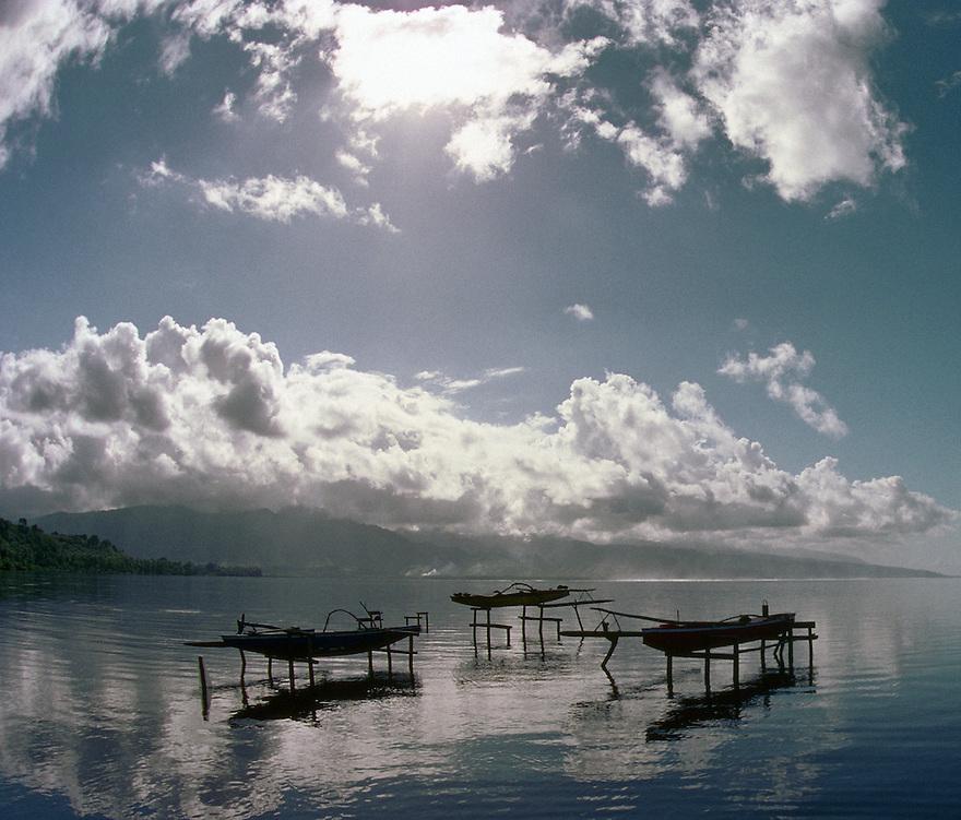 Canoes in Tahiti